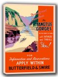 The Yangtsze Gorges (In the Heart of China) Vintage Travel Canvas. Sizes: A4/A3/A2/A1 (002691)